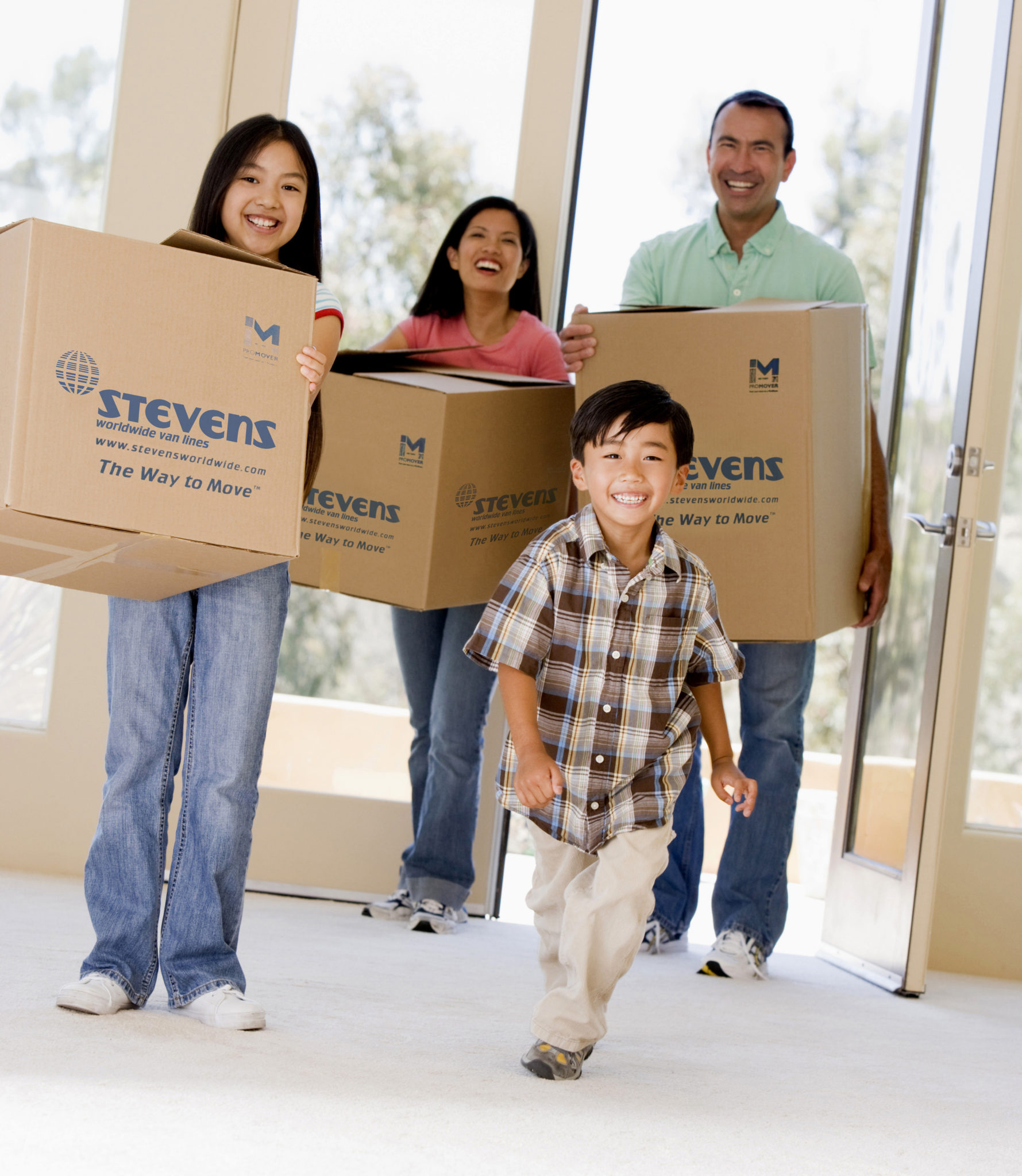Asian Family Moving